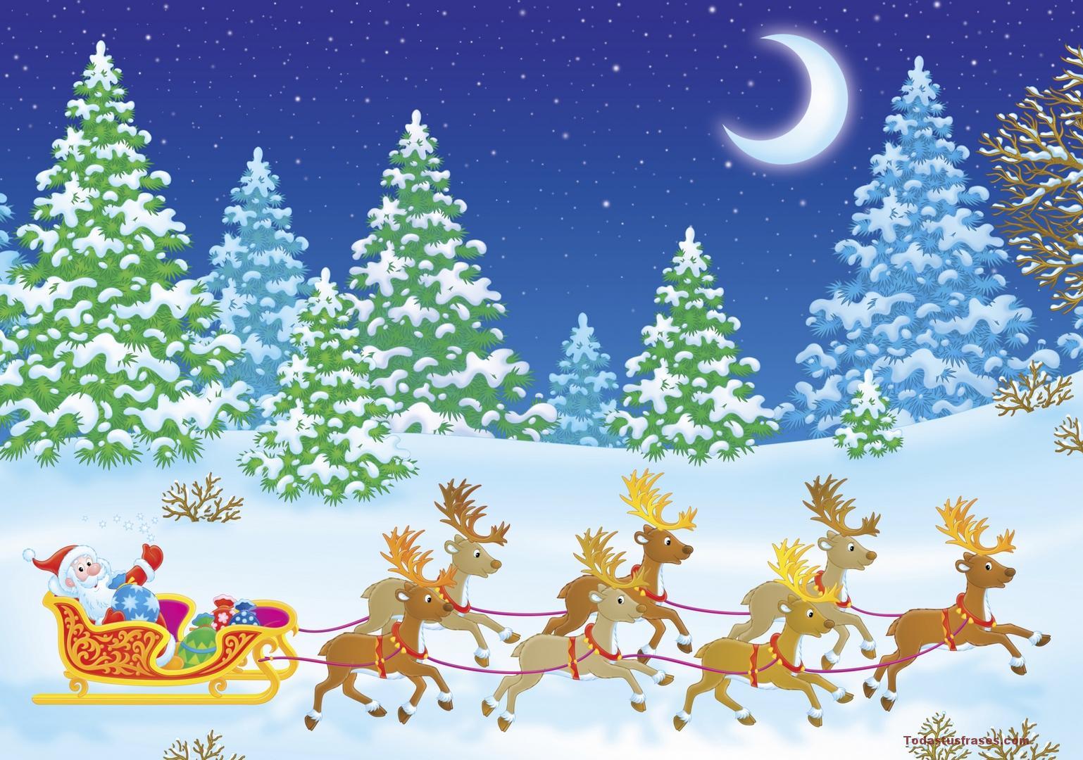 Fondo Escritorio Nevada Navideña: Fondos De Pantalla De Navidad