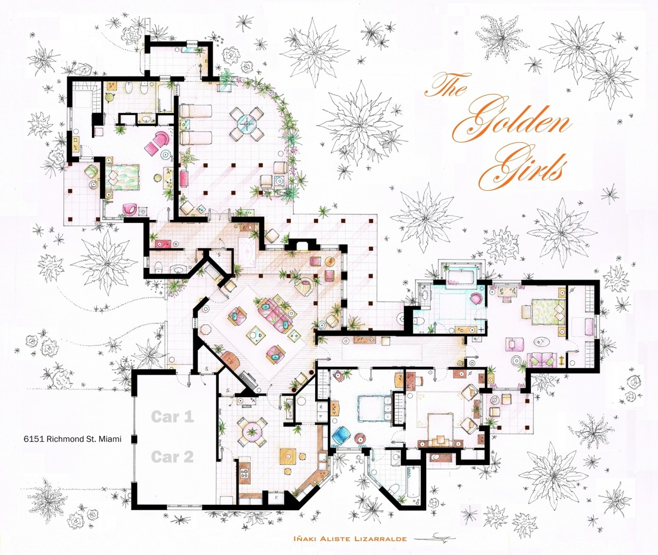 Plano de la casa de Las chicas de oro